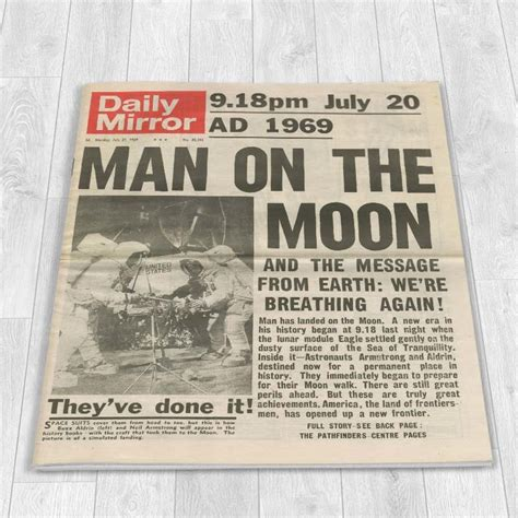One The Moon Essay by Moon Landing 1969 Newspaper I Just It