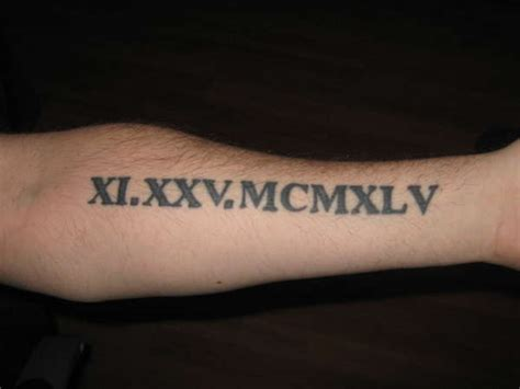 roman numeral forearm tattoo numeral forearm designs ideas and meaning