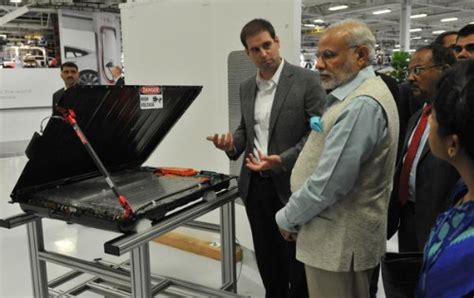 elon musk on india indian prime minister narendra modi takes ride in electric