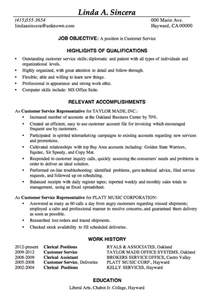 Best Resume Help by Resume Sample Customer Service Positions