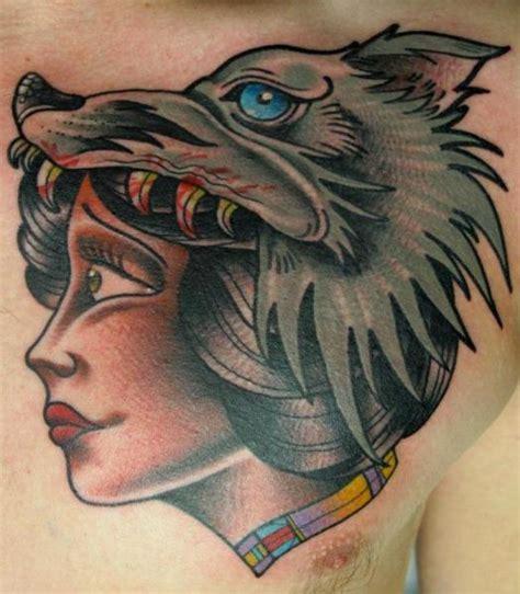 tattoo wolf new school new school chest wolf tattoo by nick baldwin