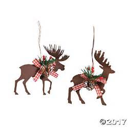 die cut moose deer christmas ornaments