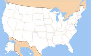 map of united states without names