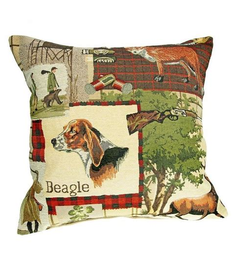 hunting home decor hunting scene beagle deer fox pillow tapestries throw