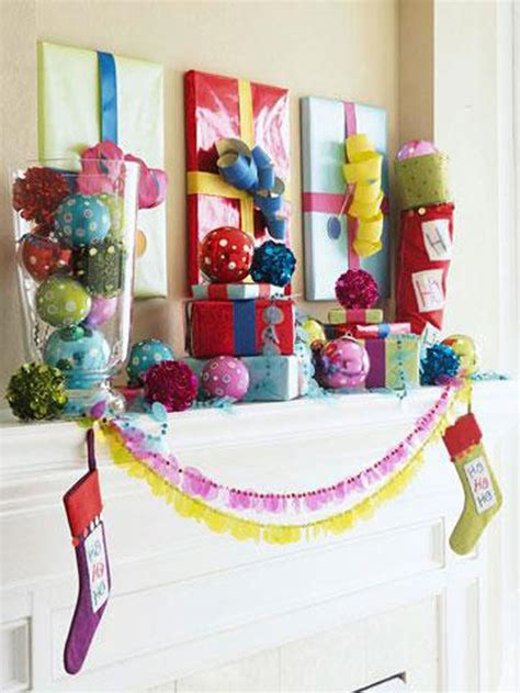 how to make christmas gift box mantel decor hgtv our 20 favorite mantel decorating ideas christmas mantel