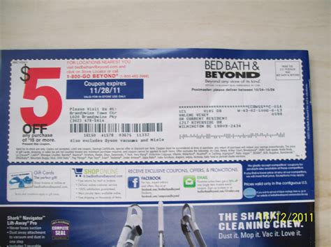 bed bath beyond 5 coupon 5 off coupon bed bath beyond