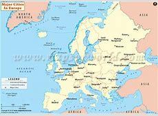 European Cities, Cities in Europe, Major Cities in Europe Europe Map Quiz Games For Kids