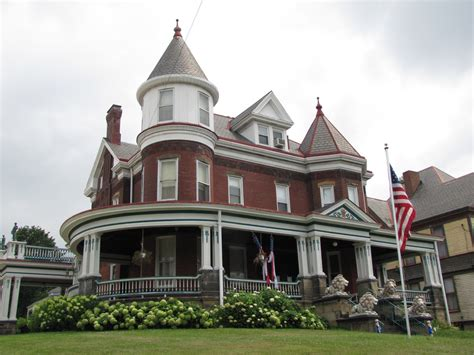 House With Tower | red victorian house with tower washington pennsylvania