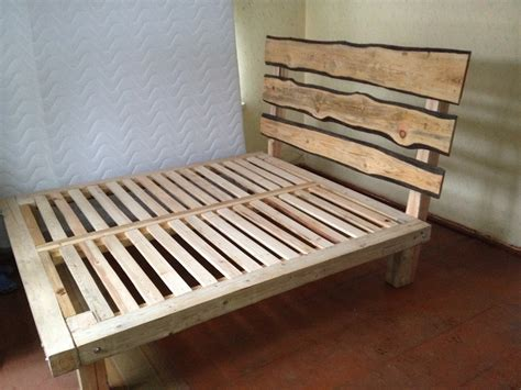 Wood Bed Frame Design Pine Log Bed Frame Plans Furnitureplans