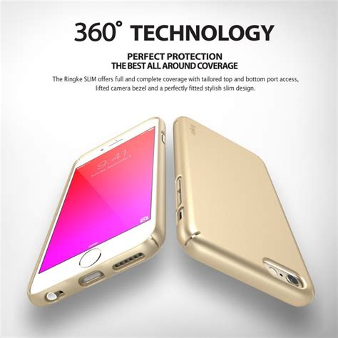 Rearth Ringke Slim For Iphone 6s Gold etui rearth ringke slim do iphone 6 6s royal gold szkło