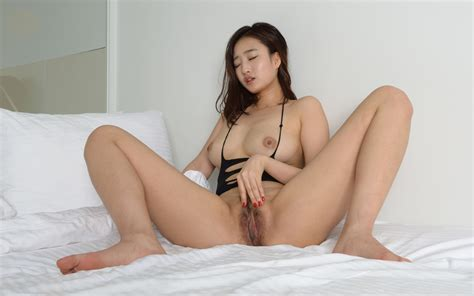 Wallpaper Sejin Korea Makemodel Pussy Cute Bed Boobs Tits Spreading Legs Haired Pussy