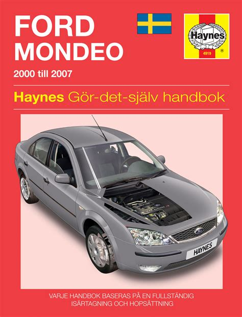 haynes repair manual ford mondeo mk2 ford mondeo 2000 2007 haynes publishing