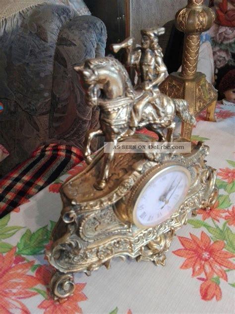 kaminuhr antik kaminuhr messing pferd figuruhr tischuhr figur antik uhr