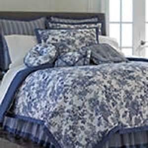 Toile Bedding Sets Blue Toile Garden Comforter Set Accessories Blue