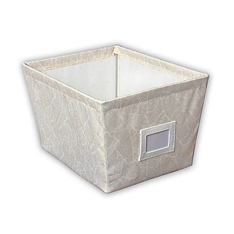 canvas storage bins buy medium canvas storage bin in tropical leaf print from