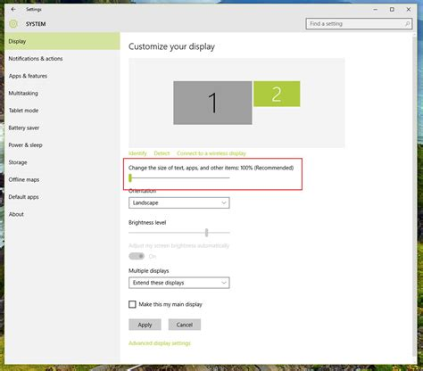 windows 10 how to configure dpi scaling on a multi