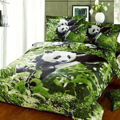 panda bed set wild animal planet panda print twin full size bedding