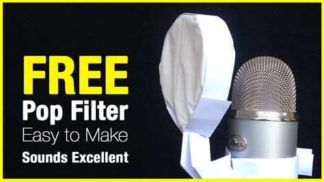 How To Make Things Pop Out On Paper - make an effective microphone pop filter out of paper