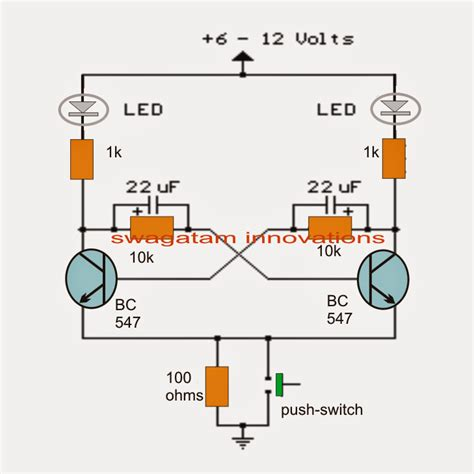 Lu Led Flip Flop transistor bistable flip flop circuits