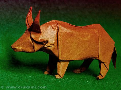 Origami Ox - montroll origami ox flickr photo