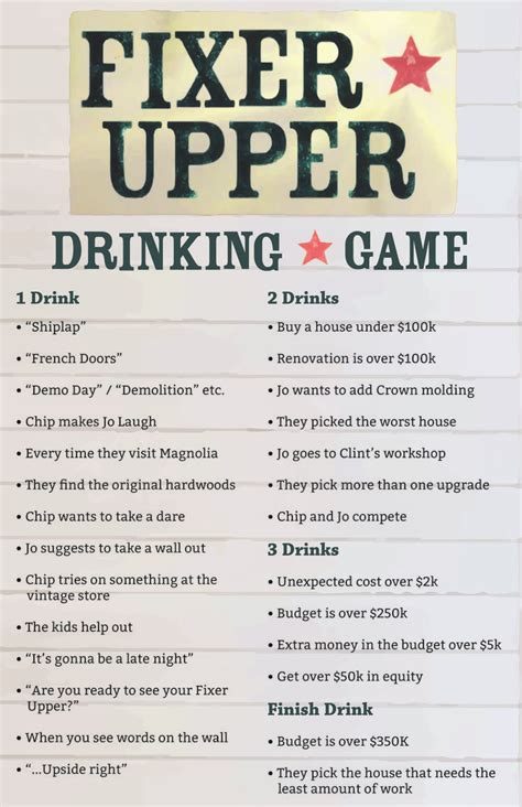 fixer upper facebook i made a fixer upper drinking game i hope you guys like