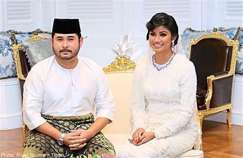 Mahkota Prince johor prince weds in ceremony malaysia news