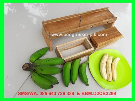 pengiris keripik pisang bonus pisau gelombang ratacv