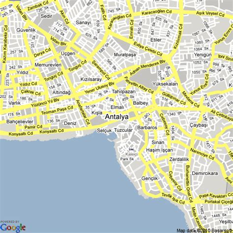 maps lara map of antalya travelquaz
