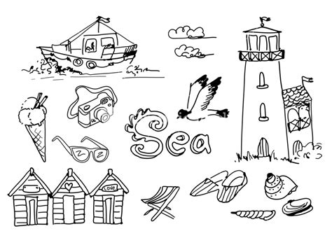 summer doodle free vector royalty free stock images vectors illustrations