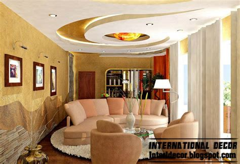 Living Room Gypsum Ceiling by International Decor