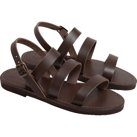 www sandals agn 232 s b brown gladiator sandals in brown lyst