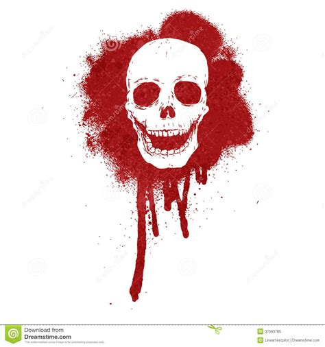 graffiti skull blood red royalty free stock photo image