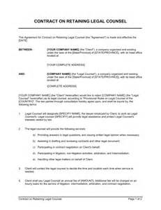 contract on retaining legal counsel template amp sample