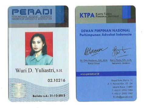 peradi mulai distribusikan ktpa kartu tanda pengenal