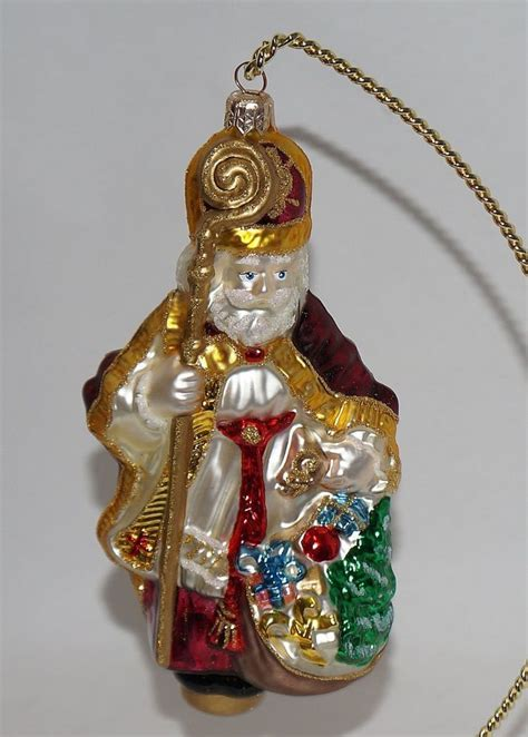 kurt adler polonaise glass bishop christmas ornament