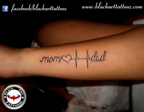tattoo designs for mom and dad blacktattoo heartbeat beat