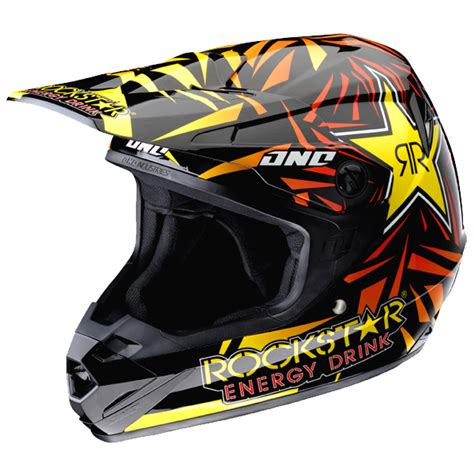 rockstar energy motocross gear one industries atom rockstar energy motocross helmet