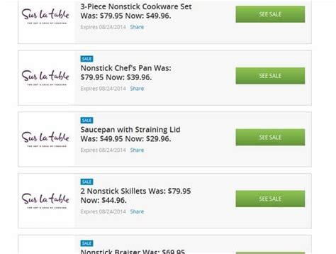 Sur La Table 20 Coupon by Groupon Coupons