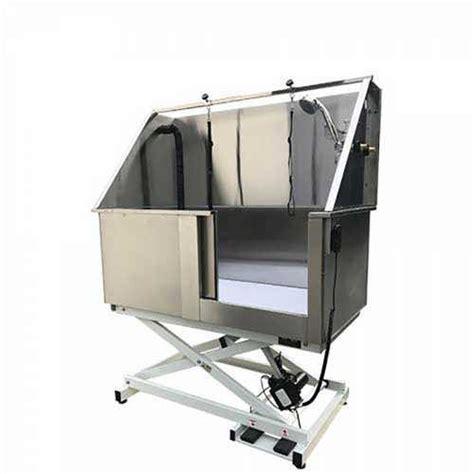 vasca per lavaggio cani vasca da toelettatura elettrica in acciaio inox per