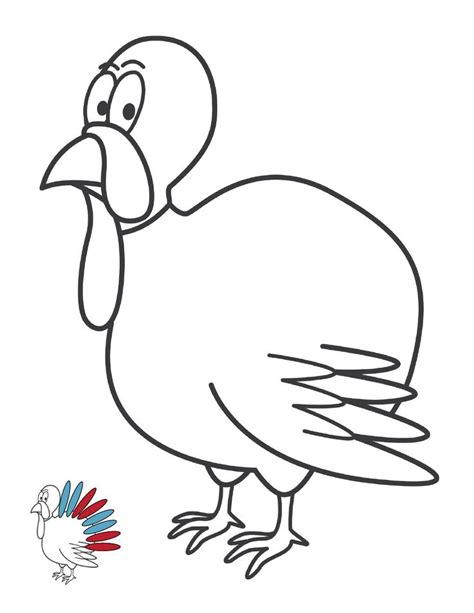 printable turkey body without feathers turkey template clipart 50