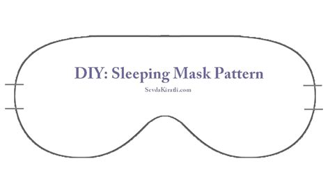 Eye Mask Template sleep mask printable template dim template
