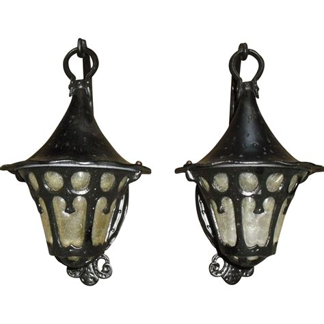 Tudor Style Outdoor Light Fixtures Tudor Or Bungalow Style Porch Lights Sconces From Sherlocksantiquelights On Ruby