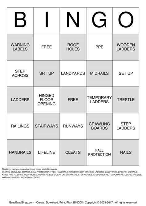 Safety Bingo Cards To Download Print And Customize | safety bingo cards to download print and customize