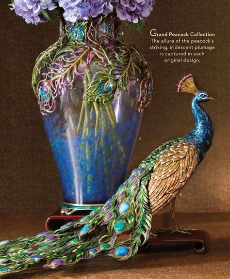 peacock feather grand vase peacock