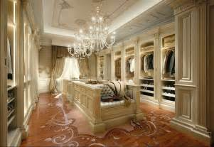 Hanging Chandeliers Luxury Walk In Closets