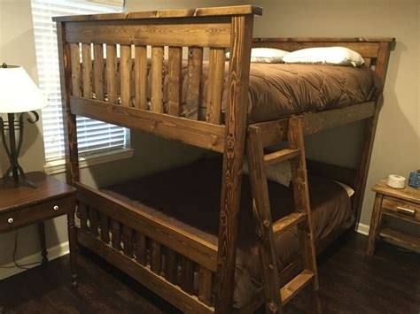 queen over queen bunk bed custom made queen over queen bunk bed by ambassador