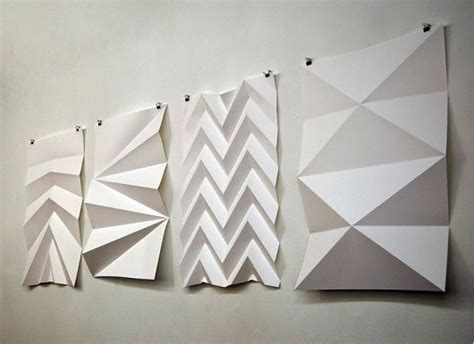 Folded Paper Sculpture - wall folding paper up the volume