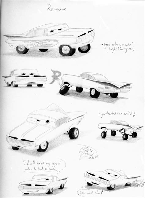 cars characters ramone cars character sketchs ramone by weirda s m art on deviantart