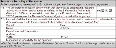 section 4 of passport application university of glasgow myglasgow human resources