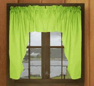 lime green window valance solid lime green swag window valance